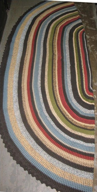 BRAIDED and CROCHET ROOM SIZE RUG