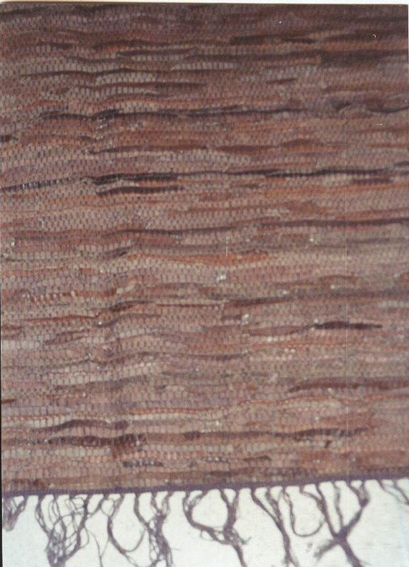 LEATHER RAG WOVEN CARPET