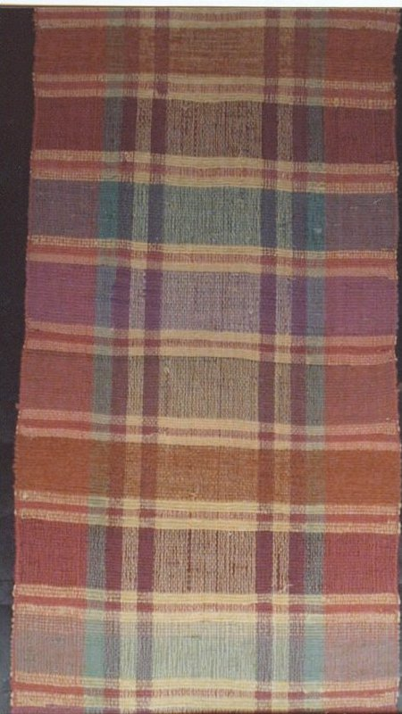 RAG CARPET VINTAGE ROLL, MADRAS-Y PLAID, PASTELS