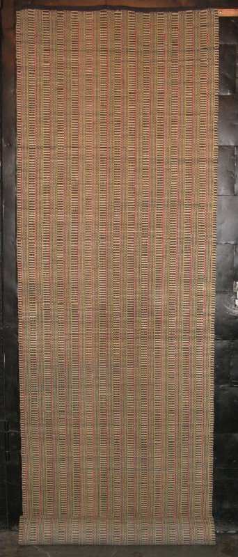 RAG CARPET ANTIQUE, WARP FACE WEAVE , 4 ROLLS subtle color shots