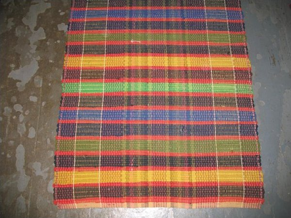 RAG CARPET VINTAGE, VIVID COLORS PLAID, 2 rolls available