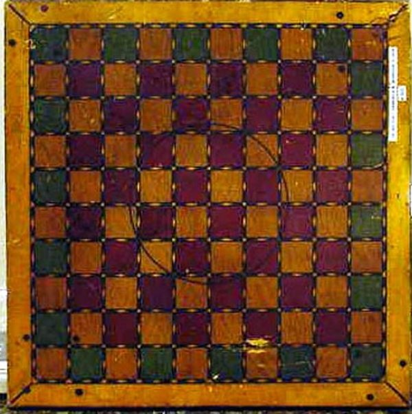 GAMEBOARD VINTAGE PAINTED for 2 different games