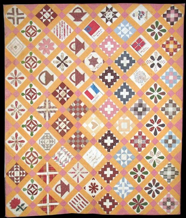 CIVIL WAR ALBUM SAMPLER ANTIQUE QUILT, Rahway, N J, Rev.Young