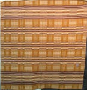 HORSE BLANKET antique,  ochre and caramel plaid