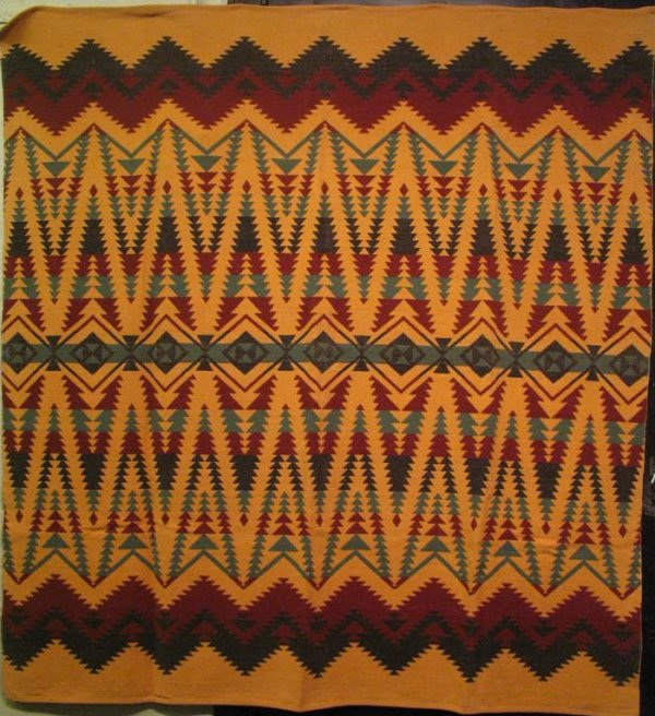 BEACON VINTAGE BLANKET large zigzag geometrics