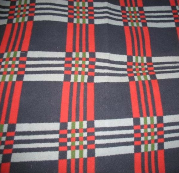 BEACON PLAID OMBRE ANTIQUE BLANKET Red Blue