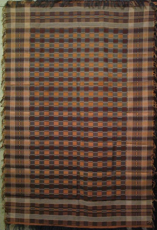 COUNTRY PLAID WOVEN TABLECLOTH
