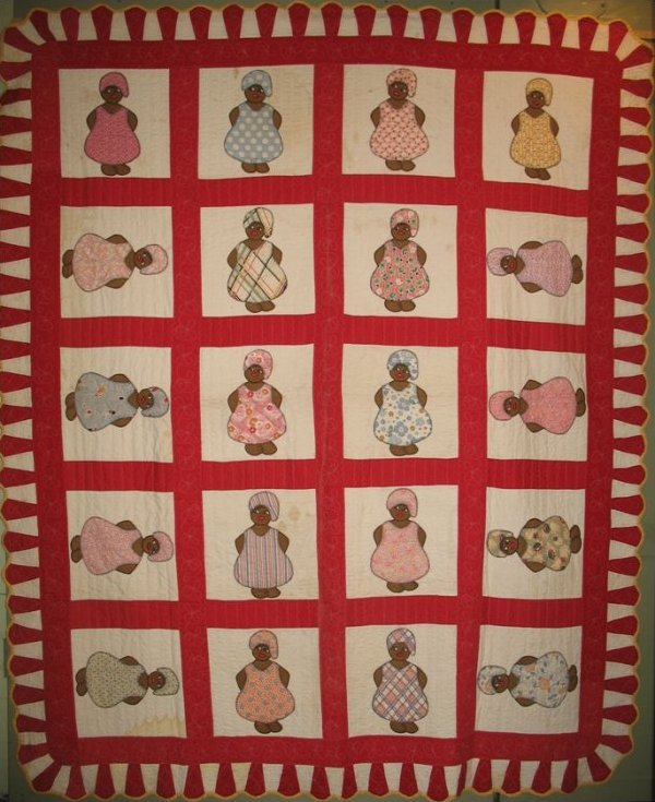 MAMMIES APPLIQUE VINTAGE QUILT