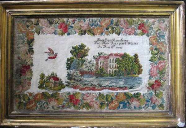 'MARY JONES FOR HER PARNTS' ANTIQUE NEEDLEWORK