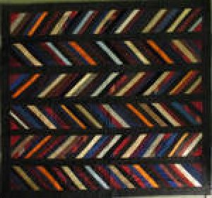 CHEVRONS ANTIQUE SILK QUILT