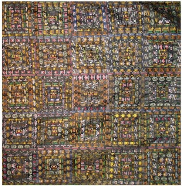 HABERDASHERY RIBBONS LOG CABIN ANTIQUE QUILT