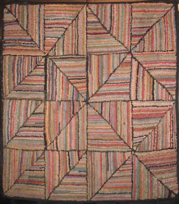 STRIPED PINWHEEL Log Cabin variation