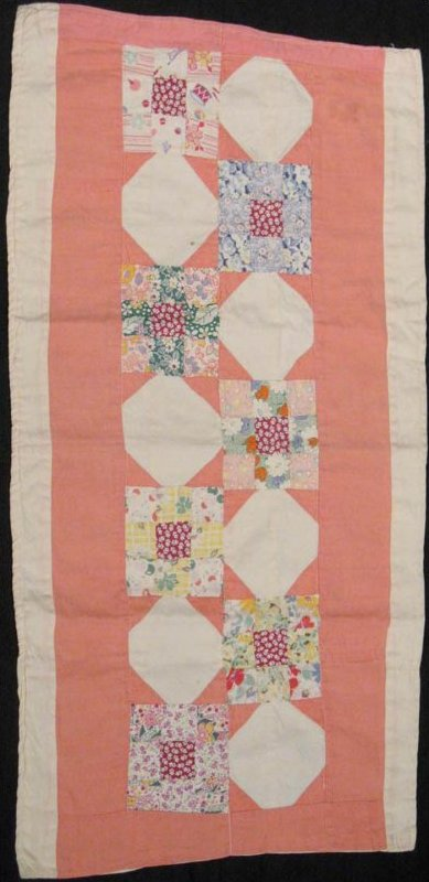 SISTER'S CHOICE 9 PATCH VINTAGE DOLL QUILT