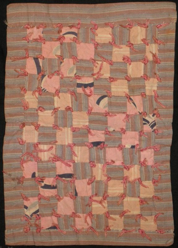 ONE PATCH 'TIED' ANTIQUE DOLL QUILT