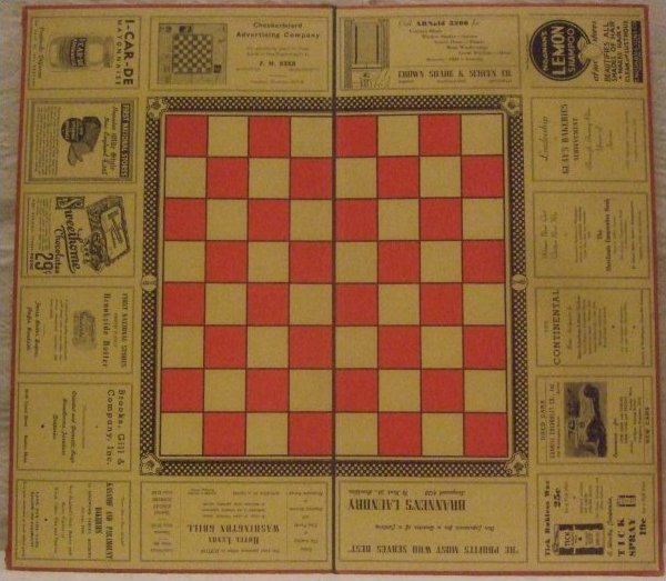 ADVERTISING FOLDING VINTAGE GAMEBOARD