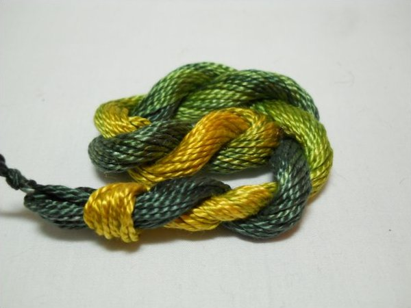Limeade- Hand-Dyed Perle Cotton Sz 3