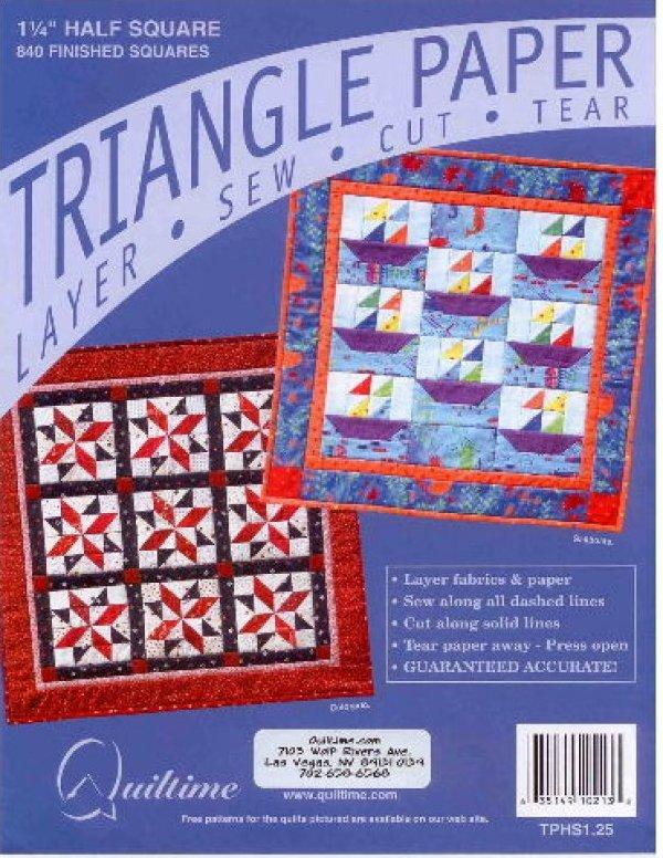 1.25 Half Square Triangle Paper