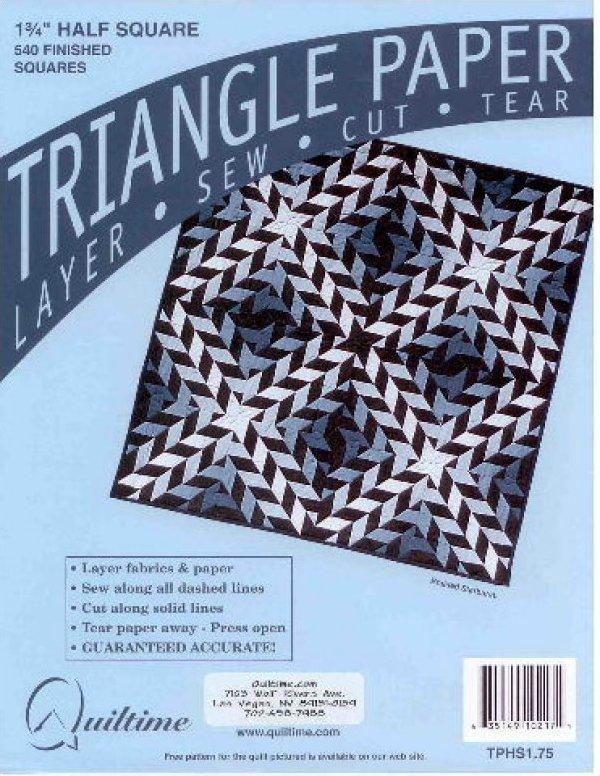 1.75 Half Square Triangle Paper