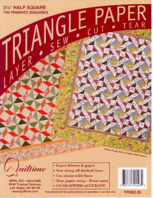 2.25 Half Square Triangle Paper