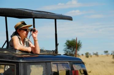 Sght Seeing with Binoculars, Eyeshields make it more comfortable