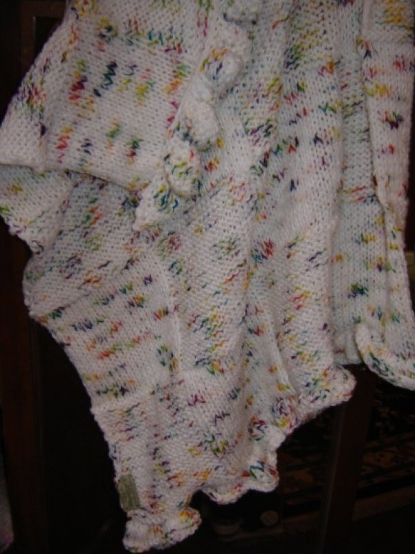 Rainbow Baby Hand Knit Blanket