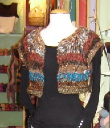 Oriental Brown, Turquoise, Tan, Camel Hand Knit Sweater