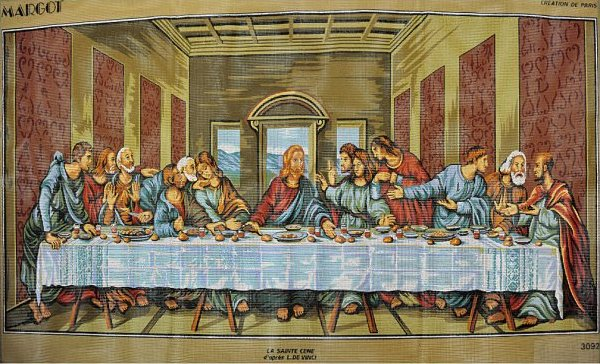 Needlepoint:  The Last Supper:  NEE