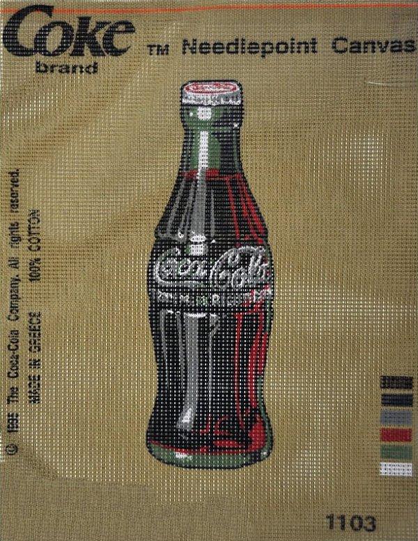 Needlepoint:  Coca Cola Bottle