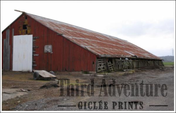 Inside Ladder Barn Giclée Print