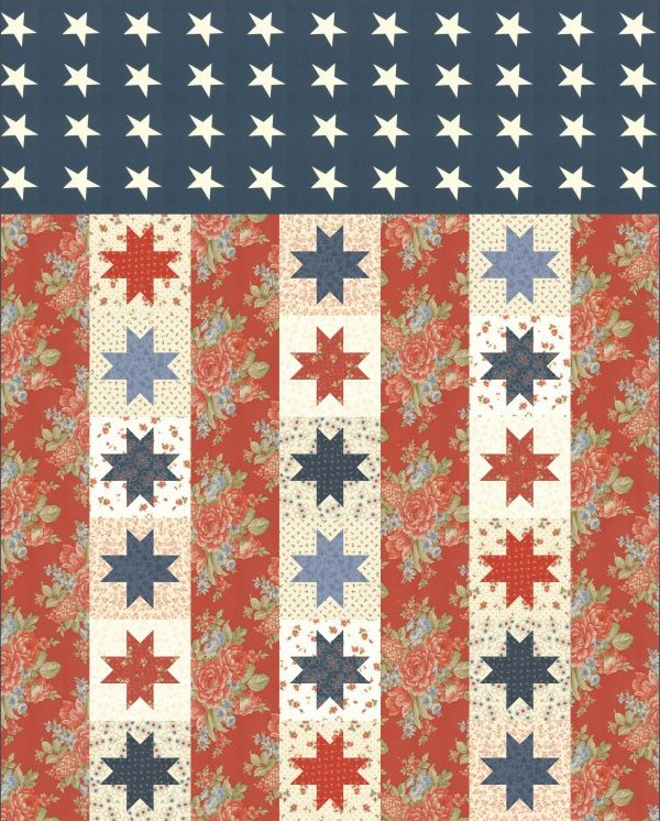 Quilts Of Valor Pattern By Moda 52x66