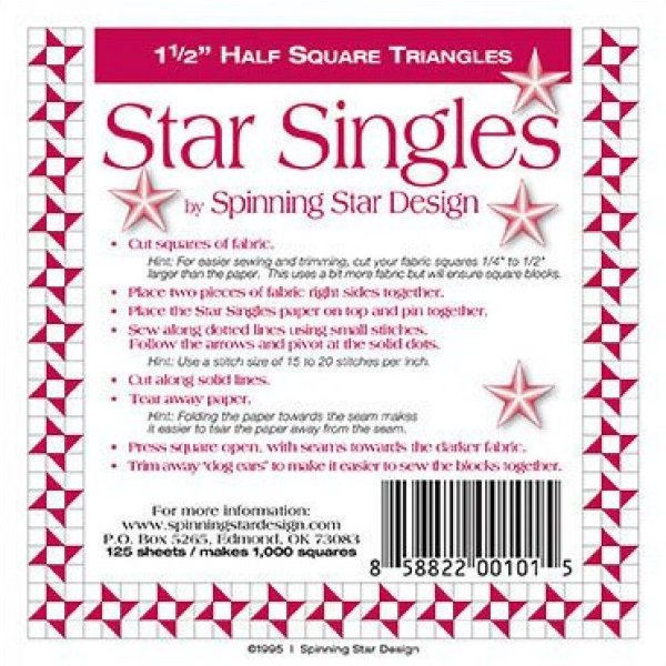 1 1/2 Spinning Star Designs Star Singles
