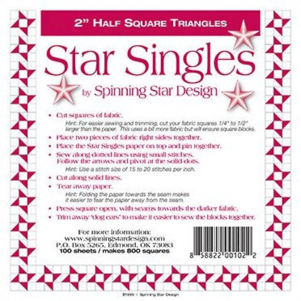 2 Spinning Star Designs Star Singles