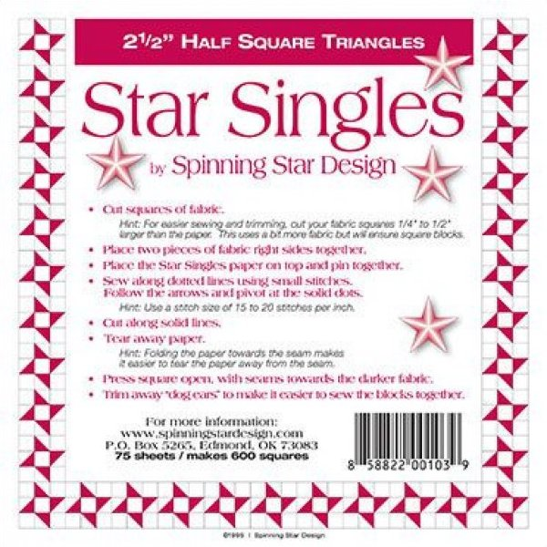 2 1/2 Spinning Star Designs Star Singles