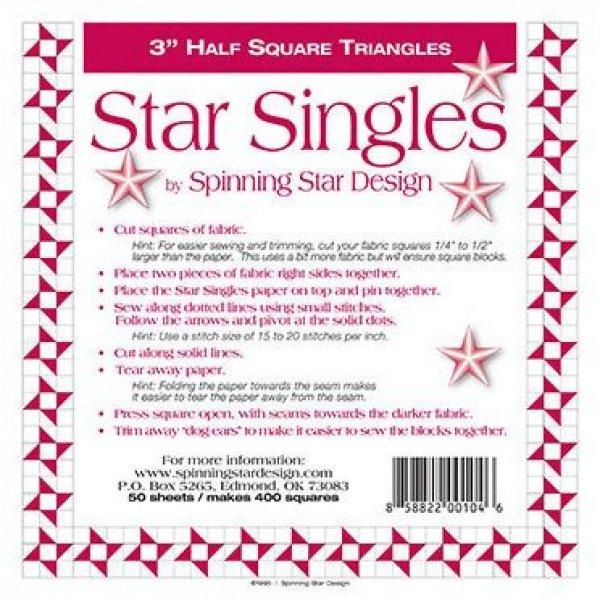 3 1/2 Spinning Star Designs Star Singles