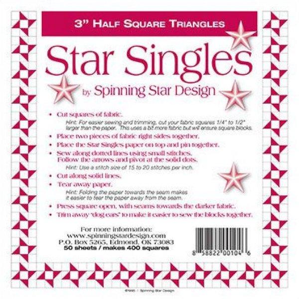 3 1/2 Spinning Star Designs Star Singles