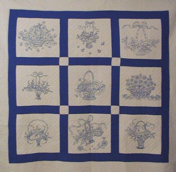 Bluework Basket Quilt
