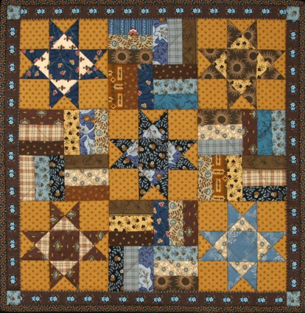 Little Ohio Stars & Rails Quilt - #1004