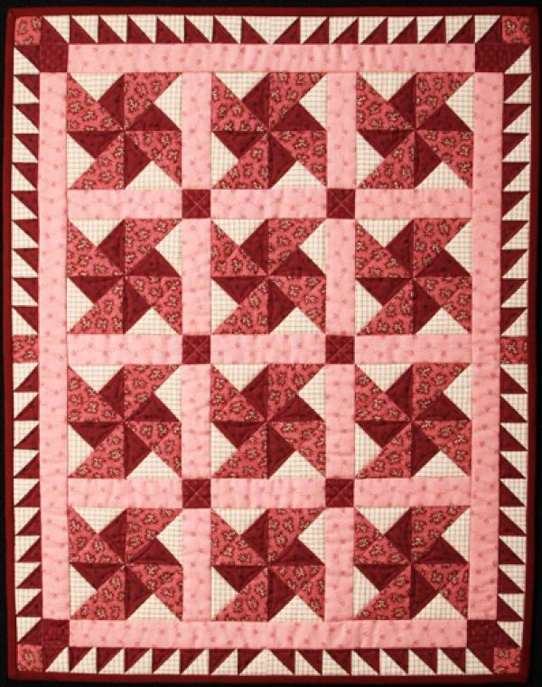 Old Time Pinwheels Quilt - #1006