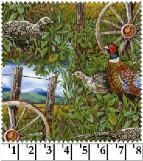 Blank Quilting - Pheasant Drive-Scene/Green - 6026