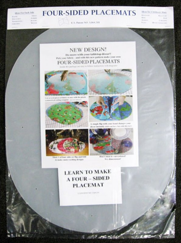 four 4 sided placemat template pattern ss4s 014181674967