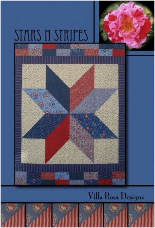 Stars N Stripes Quilt KIT - Patriotic - Villa Rosa - 56 x 76