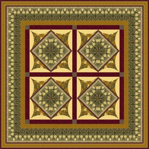 The Tiffany Window Quilt Pattern