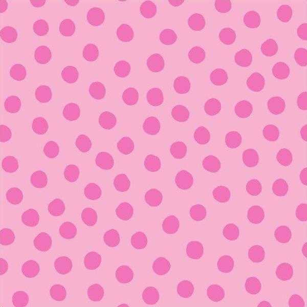 Remnant - 1 3/4 Yards - Maywood Pink on Pink Polka Dots