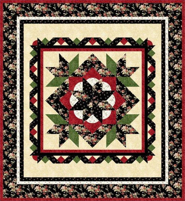 Crimson Roses 2 Quilt Pattern - All new sizes