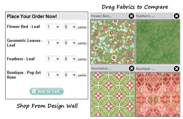 Compare products and shop right from the design wall.