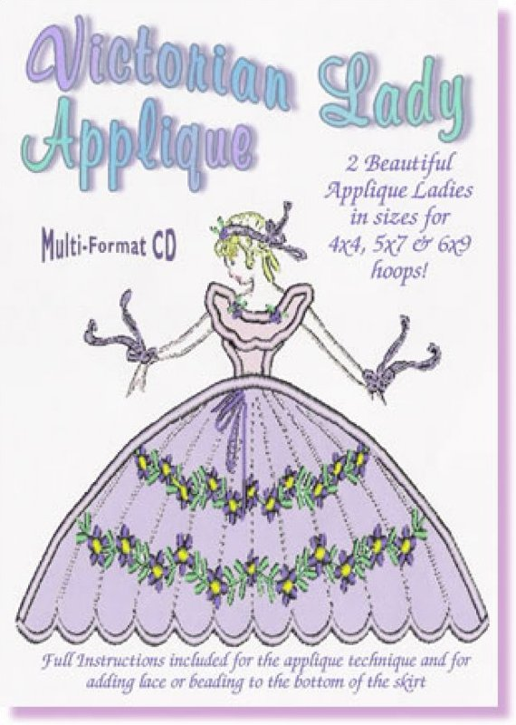 Victorian Lady Applique