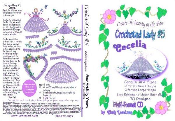 Crocheted Lady #5 Cecelia