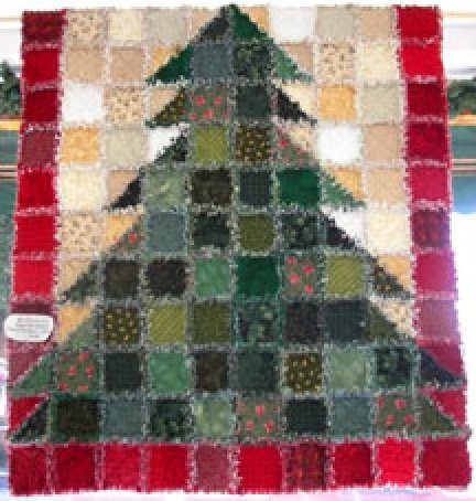 O'Christmas Tree Rag Tree Quilt Kit Inspiration Free Rag Quilt Patterns