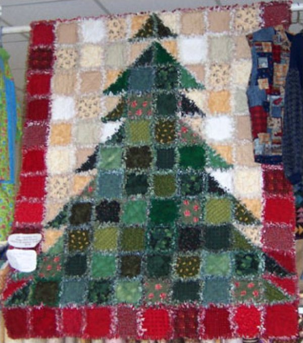 tree rag quilt kit (call for price) : christmas rag quilt patterns - Adamdwight.com