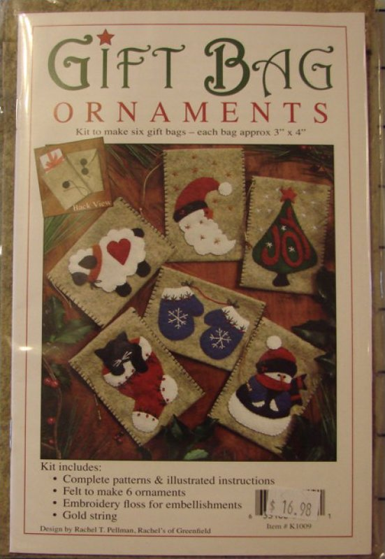 Woolen Gift Bag Ornaments